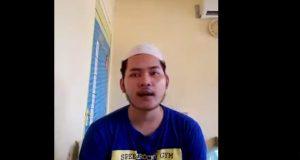 Terdakwa M. Bagas, ketika menjalani sidang dakwaan secara Virtual. di PN Palembang. Foto. Newshanter.com/Syf