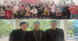Alumni FH UIBA Palembang berfose bersama. Foto. Sya